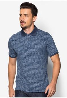 Geometric-Print Polo Shirt
