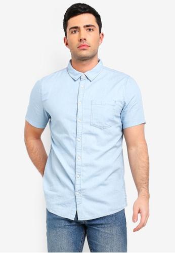 Cotton On 藍色 短袖襯衫 39EE4AA541C714GS_1