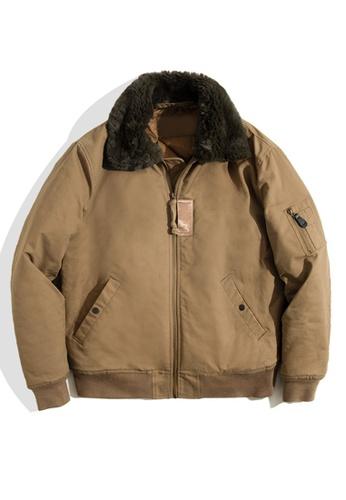 Twenty Eight Shoes brown VANSA Warm Fur Collar Coat  VCM-C2007165 9124DAA66BCDB7GS_1