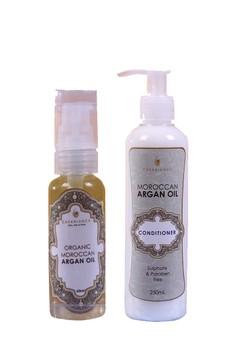 Pure Organic Moroccan Argan Oil 60ml with Moroccan Argan Oil Conditioner 250ml Bundle