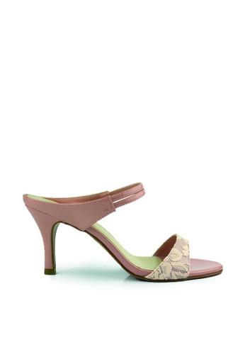 SHINE pink Slip On  Sandal Heels SH554SH0GQHFSG_1