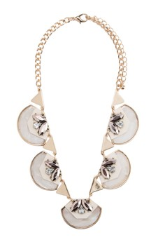 Classic Jewel Shell Repeater Short Necklace
