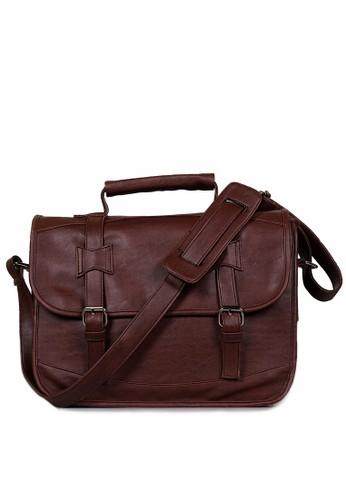 Ceviro brown Bromanzo Messenger Laptop Bag Dark Coconut 46C3EAC1BFC00CGS 1 848bc7b90d2e