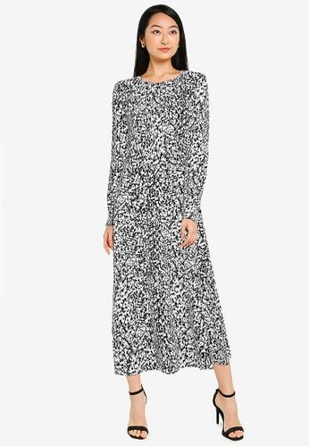 JACQUELINE DE YONG white Bristel Long Sleeve Dress F2611AA1191ACEGS_1