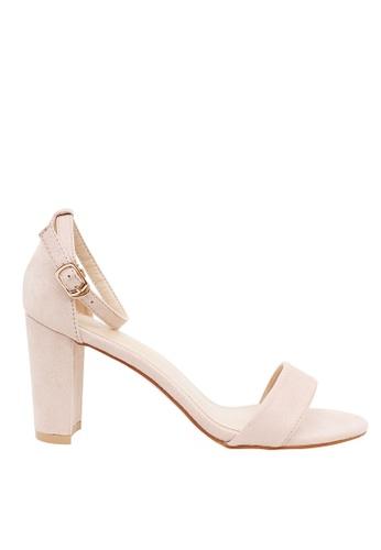 Tomaz Tomaz 9AH28 Ankle Strap Block Heels (Nude) 9CC93SH8E8B214GS_1