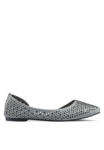 Mimosa 灰色 鏤空雕花平底鞋 62CEBSHD65A7F2GS_1