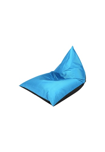 doob black and blue PLATOOPAT - dumpling-shaped doob bean bag lounger (Cola Caribbean) B89C3HLBF38E56GS_1