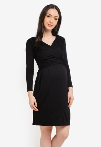 Envie De Fraise black Maternity Divine Long Sleeve Dress 51663AA258CBDDGS_1