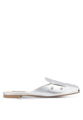 ZALORA silver Studded Mule Slides B6835SH973EA30GS_1