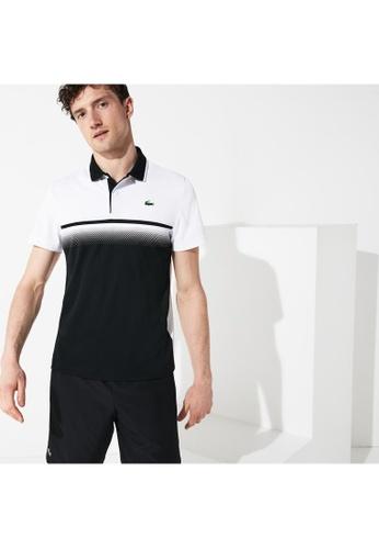 fb0fa13c Lacoste white Men's Lacoste SPORT Shaded Colourblock Technical Piqué Tennis  Polo Shirt - DH3448-10