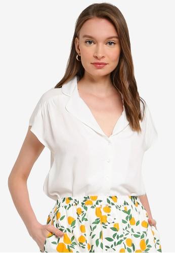 Compania Fantastica white Pajama Style Shirt 0F319AA714C6D4GS_1