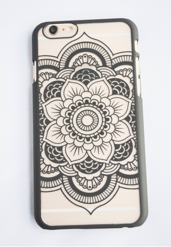 Fancy Cellphone Cases black Flower Mandala Case for iPhone 6 plus FA644AC13EWOPH_1