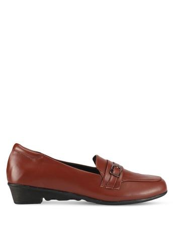 Alfio Raldo brown Pleather Loafers C1883SH23A6738GS_1