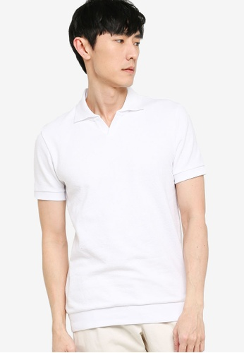 BOSS white Plato 08 Polo Shirt BE8EAAA4CA3E33GS_1