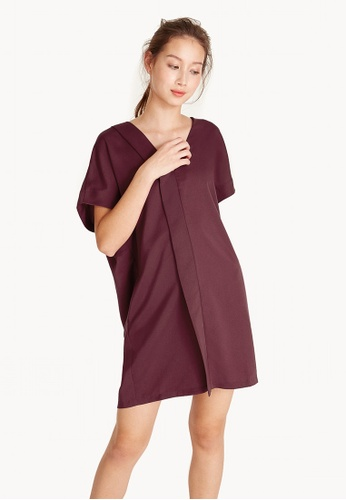 Pomelo red Mini Oversized Plunging Dress 9D17EAA59C9C76GS_1