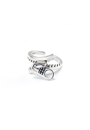 A-Excellence silver Premium S925 Sliver Geometric Ring A1A38AC77EC57EGS_1