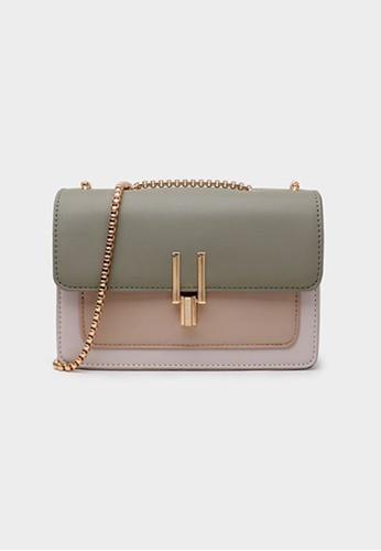 Lara green Women's Elegant Leather Flap Chain Cross-body Bag - Green 9A6C7ACF846DA2GS_1