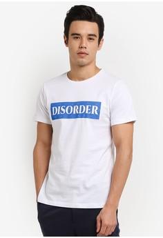【ZALORA】 Disorder Crack 印刷 T卹