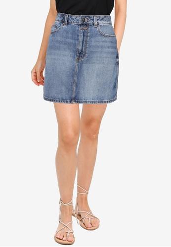 Springfield blue Essential Denim Skirt ECA9EAAD00BB2AGS_1