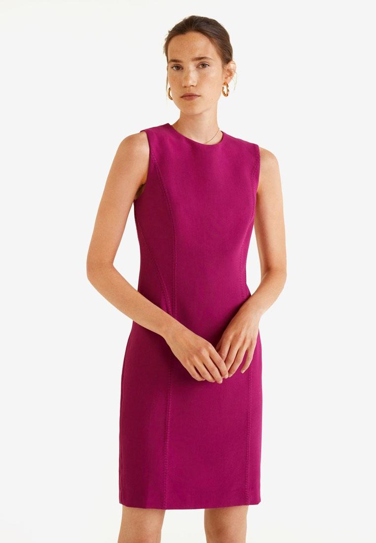 Mango Purple Seam Medium Bodycon Dress qxC8E8Swn