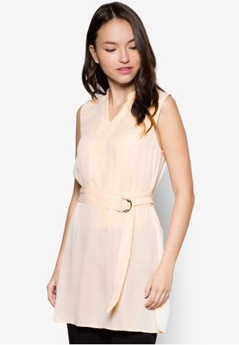 Deana 腰帶無袖上esprit專櫃衣, 服飾, 上衣