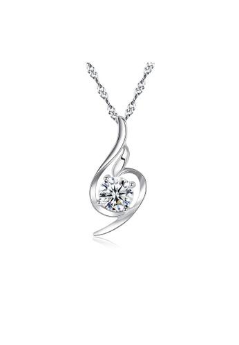 SUNRAIS silver Premium Silver S925 Silver Drop Necklace 2950CAC904136CGS_1