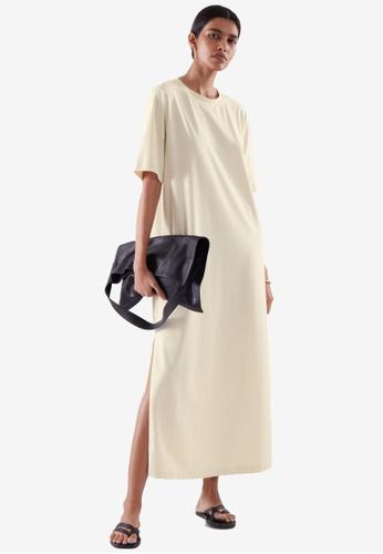 COS white Oversized T-Shirt Dress 23801AAB333B27GS_1