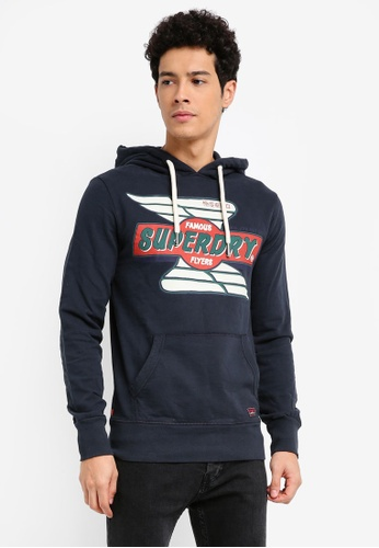Superdry navy Real Trade Mark Lite Weight Hood BB422AA7EAE673GS_1