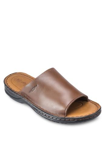 Claptesprit專櫃on 仿皮寬帶涼鞋, 鞋, 鞋