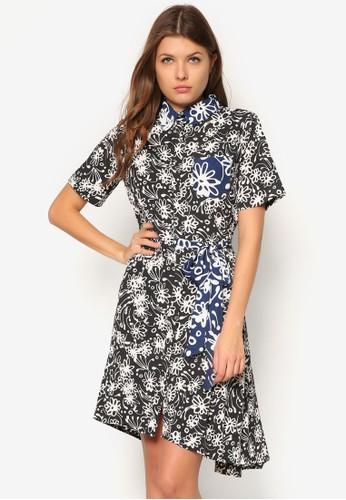 Linford 印花腰帶連身裙,esprit門市 服飾, 夏日洋裝