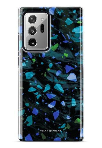 Polar Polar blue Ocean Terrazzo Gem Dual-Layer Tough Case Glossy For Samsung Galaxy Note20 Ultra 5G 783FAAC761EEEDGS_1
