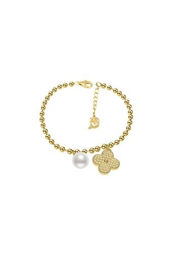 Pearly Lustre gold Pearly Lustre Elegant Freshwater Pearl Bracelet WB00069 585BEACA0B4383GS_1