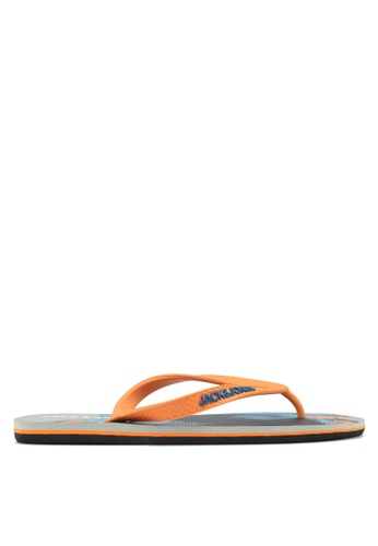 Jack & Jones grey Print Flip-Flops 623F3SHD52C262GS_1