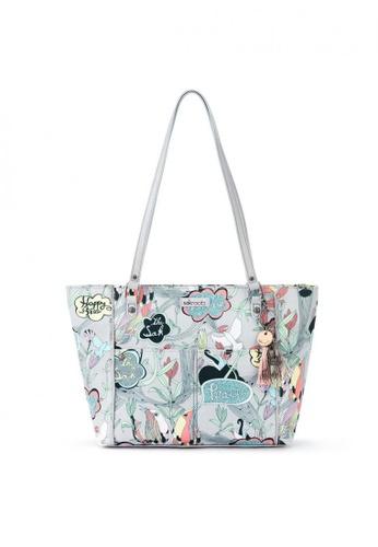 Sakroots grey Metro Tote Shoulder Bag 4BBF7ACD91D6D3GS_1
