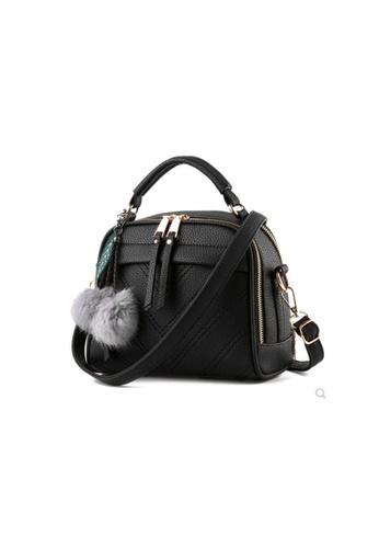 Seoul in Love black and grey Elaine multi compartment Sling bag AACEBACEBA894FGS_1