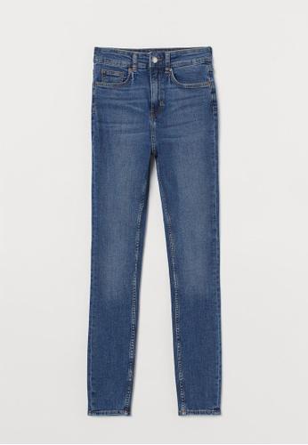 H&M blue Skinny High Jeans 3F345AA33535CDGS_1
