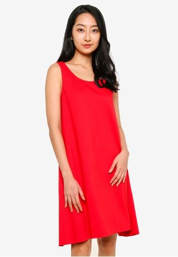UniqTee red Premium A Line Sleeveless Dress 8AE4CAA7B77AE2GS_1