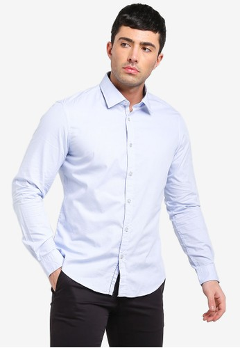 ESPRIT blue Striped Shirt With COOLMAX® Technology E351EAAD28543BGS_1