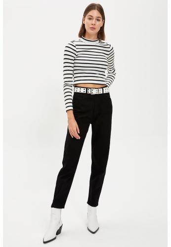 DeFacto 黑色 High Waist Mom Jeans A6669AA77C39A8GS_1