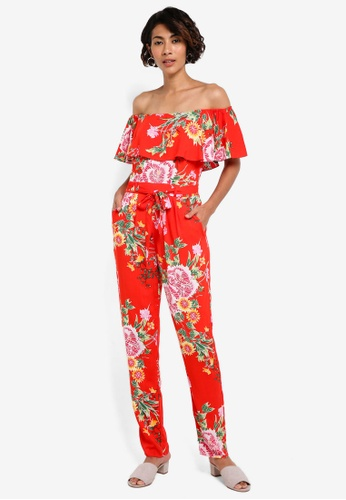 Dorothy Perkins red Red Oriental Print Jumpsuit DO816AA44BAHMY_1