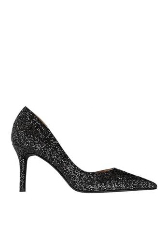 Twenty Eight Shoes black Unilateral Open Sequins Evening and Bridal Shoes VP88621 8DFECSH3A1495EGS_1