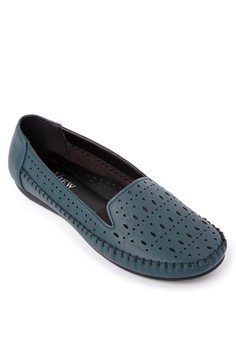 Cut Out Detail Loafers