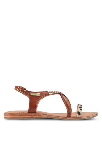 Les Tropeziennes Par M. Belarbi multi Horse Tan Leopard Multi Strap Leather Sandals 8113BSHCD36A94GS_1