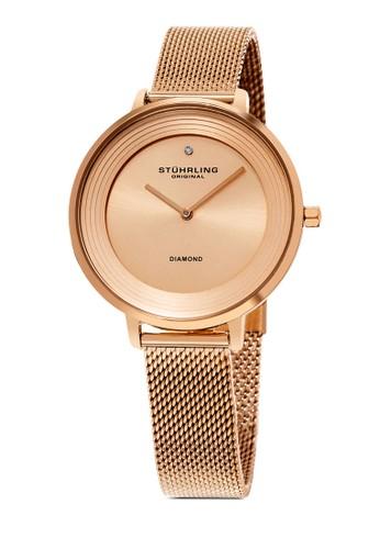 Symphony 589 網眼圓框esprit taiwan手錶, 錶類, 不銹鋼錶帶