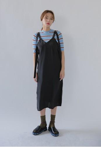 韓風長esprit part time肩帶連身裙, 服飾, 洋裝