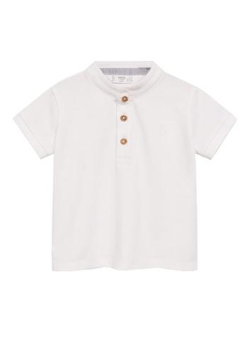 MANGO BABY white Organic Cotton Polo Shirt 8C0E0KAAD8E431GS_1