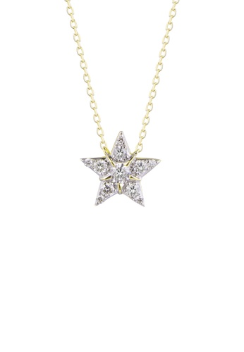 Khoe yellow Khoe 18K Yellow Gold Diamond Star Pendant 8C074AC58D6C6EGS_1