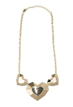 Triple Heart Shapes Necklace