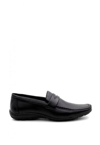 London Fashion black 1309-34 Leather Shoes LO229SH20ZKXPH_1