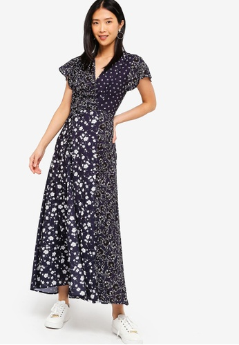 bf3d5204da46 Shop French Connection Aliyah Crepe Floral Maxi Dress Online on ZALORA  Philippines